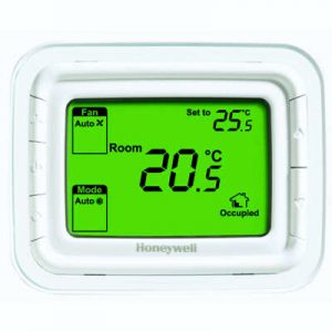 Non programmable thermostat, 2 and 4 pipes Horizontal Green